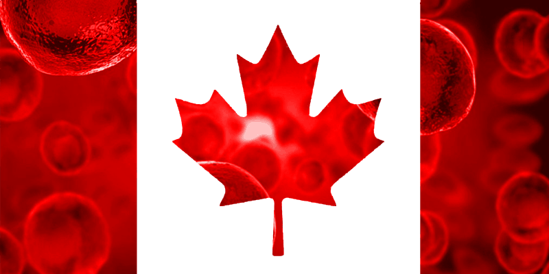 picture of canada flag with stem cells