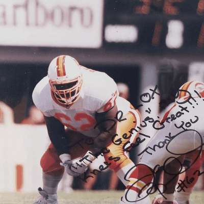 Signed photo from Ian Beckles thanking Dr. Lox for this stem cell therapy treatment