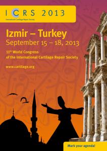 International Cartilage Repair Society World Congress in Izmir Turkey