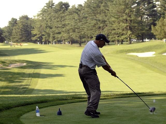 A Golfer with Shoulder Problems.