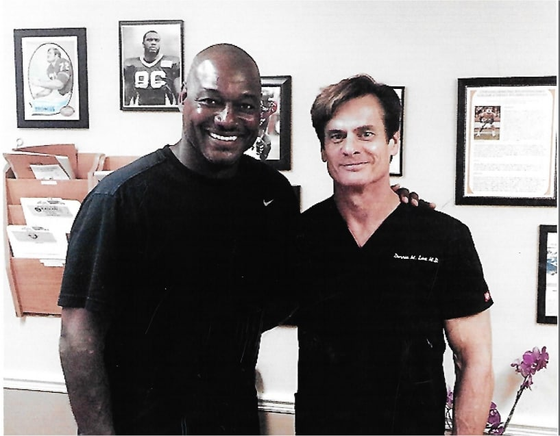 Derrick Brooks NFL Hall of Famer Has Wrist Stem Cells With Dr. Lox