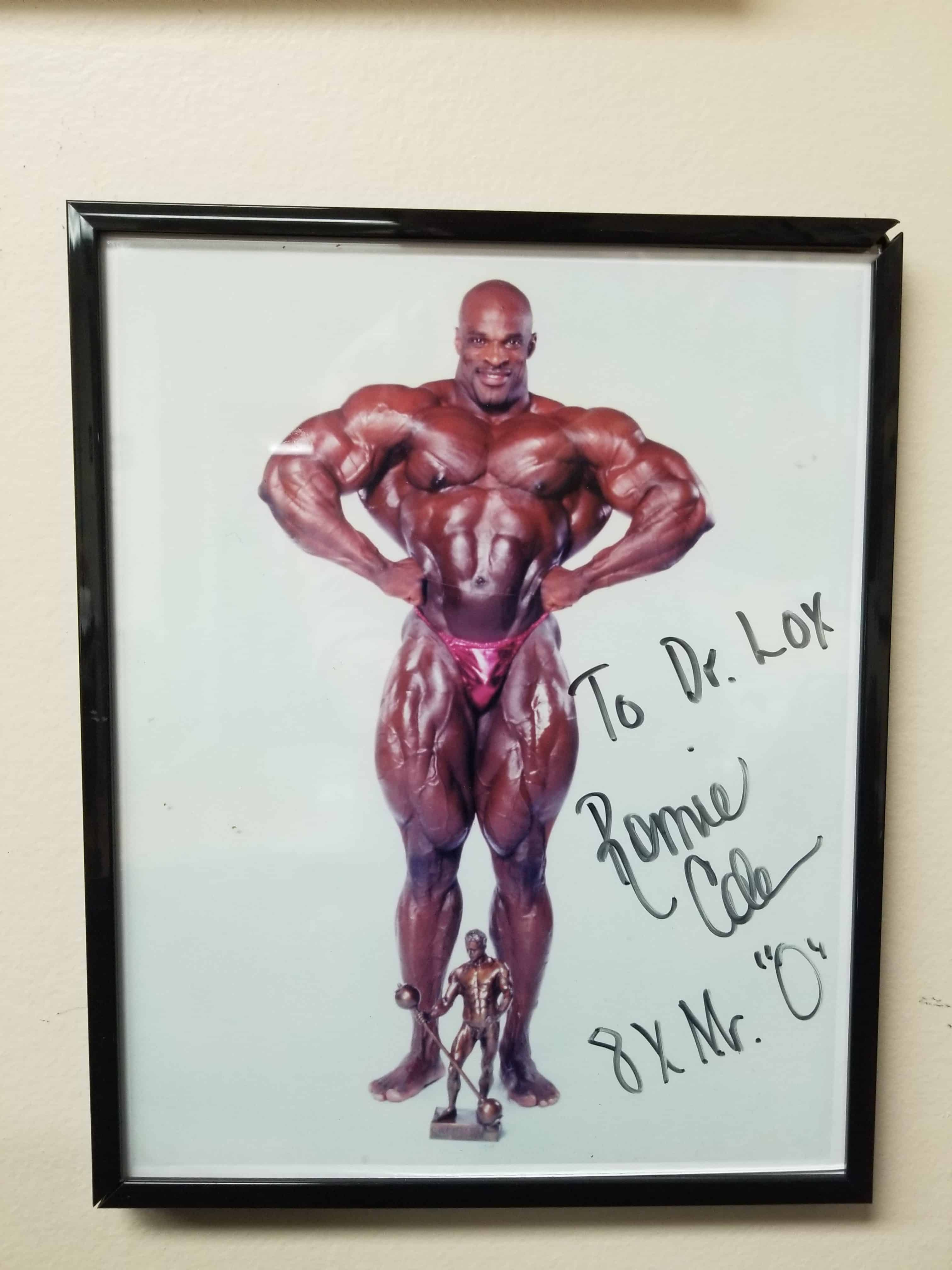 Signed photograph of Ronnie Coleman
