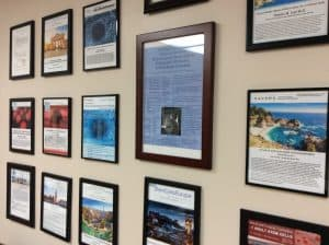 Office Wall of Stem Cell Presentations