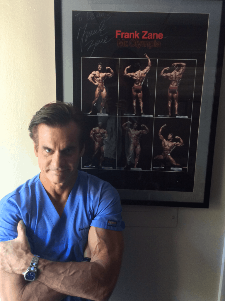 deniis lox md and his signed frank zane poster